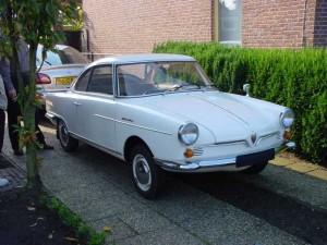 White NSU SPort Prinz 1965